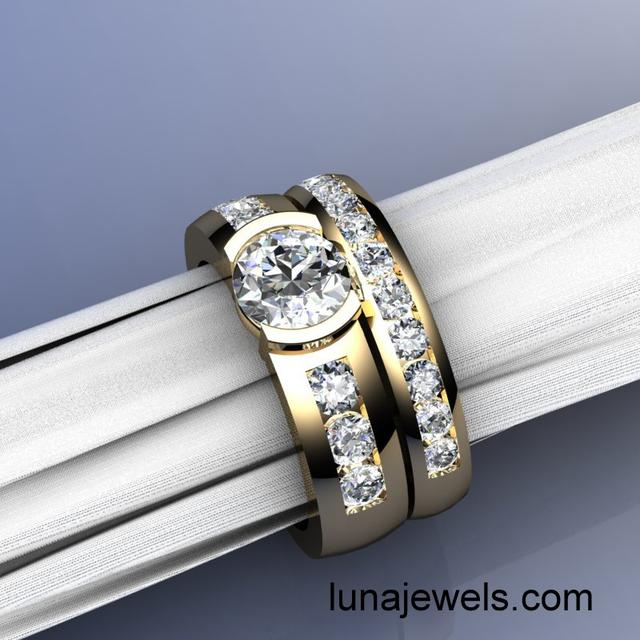 Wedding Rings with Channel set diamonds