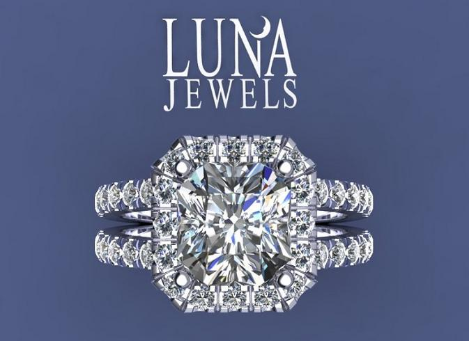 Radiant diamond Halo,