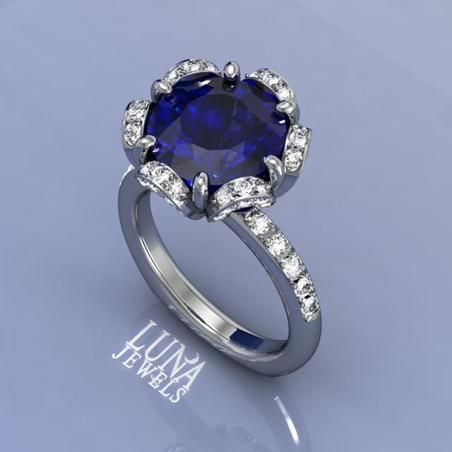 Blossom Ring with Tanzanite center