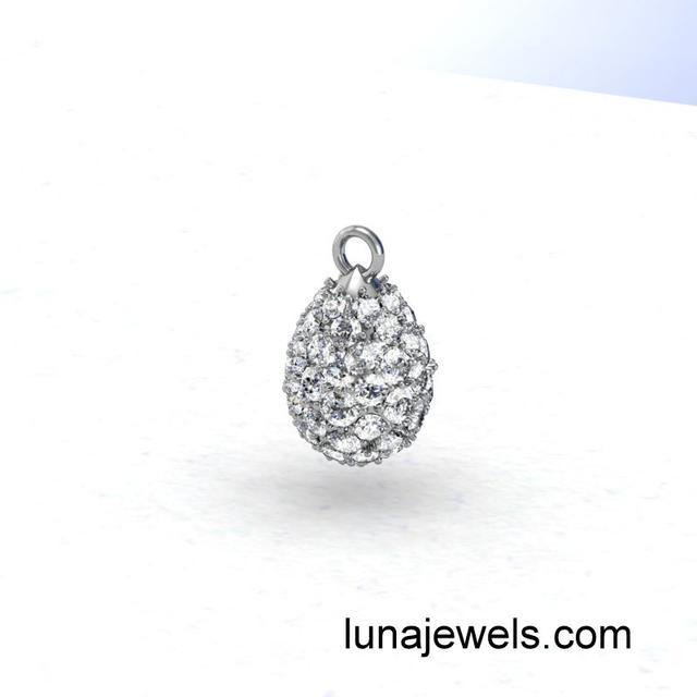 Diamond tear drop Bauble