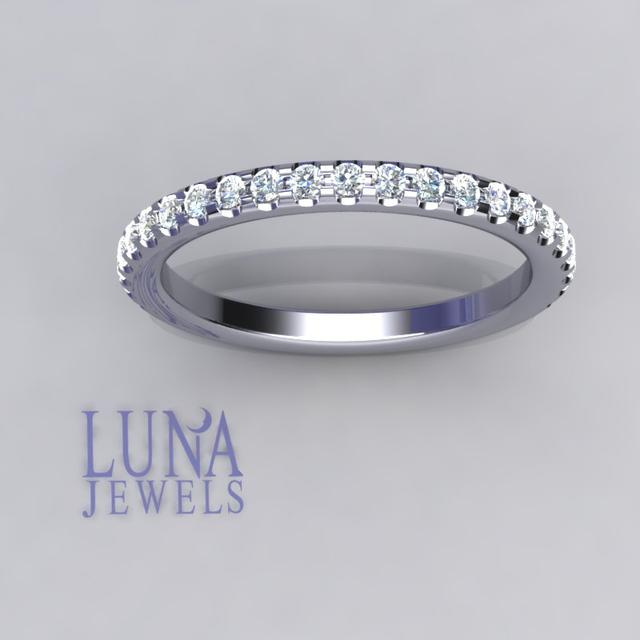 Round cut pave ring
