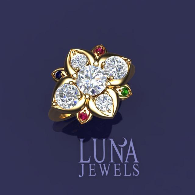 Lotus Mother's Ring