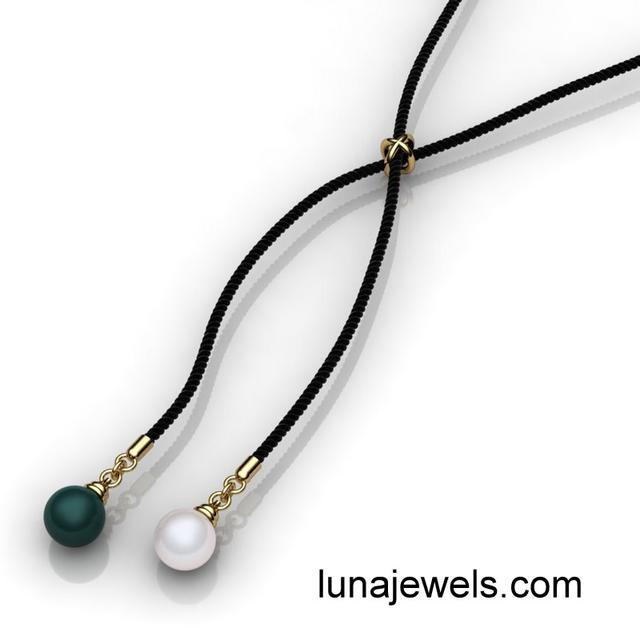 Pearl Bolo Necklace